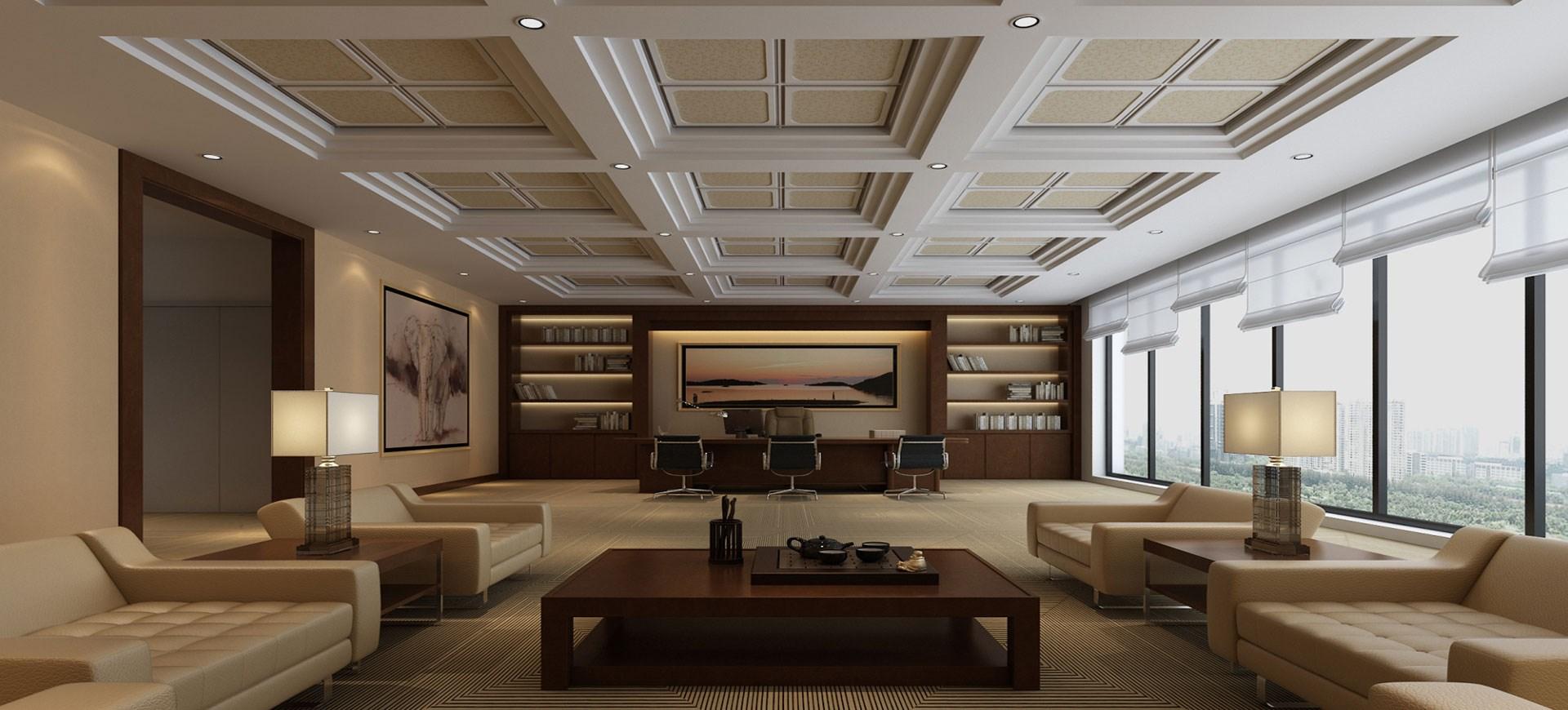 集成墙面装饰板中式风格办公室